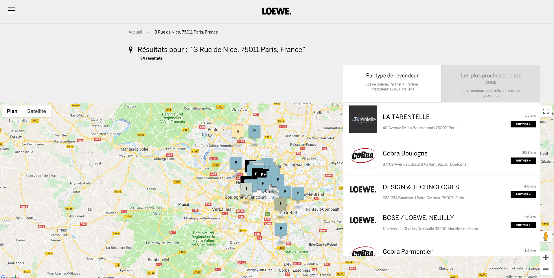 Store Locator - map view