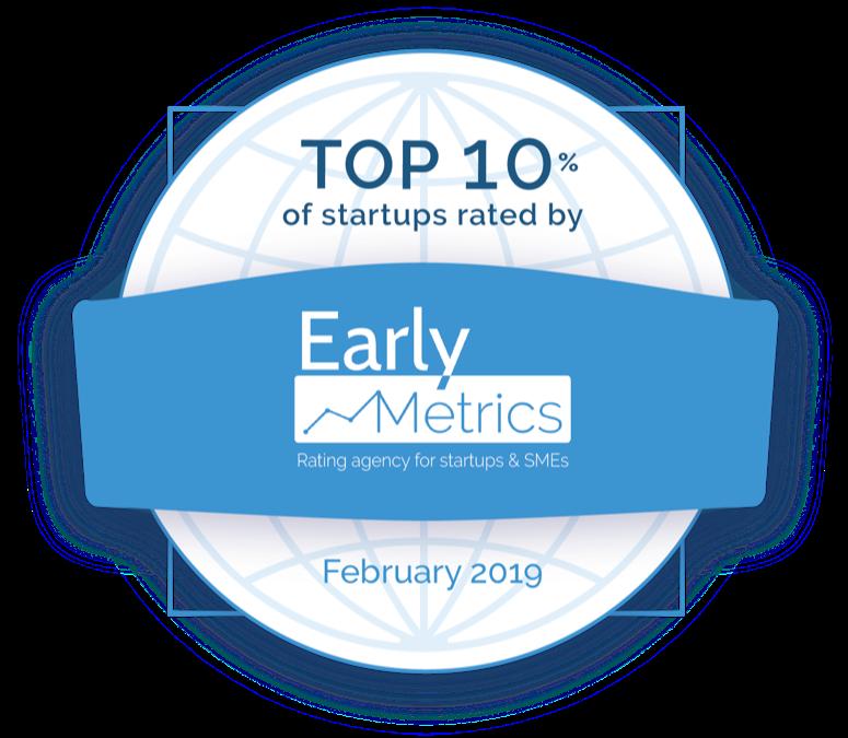 Visiperf dans le top 10% des meilleures startups selon Early Metrics
