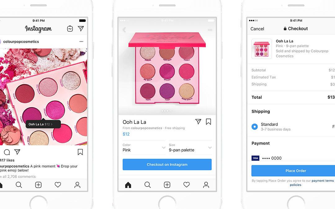 Instagram lance l'achat de produits sans quitter l'application