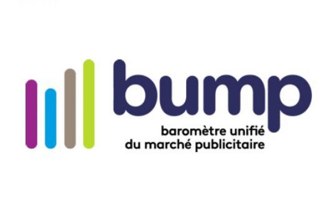 BUMP, le Baromètre Unifié du marché publicitaire des données Kantar, France Pub et de l'IREP.